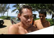 Blind Surfer Derek Rabelo Surfing Pipe