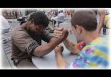 Making Homeless Guys Arm Wrestle For Money – Surprising the Pranksters